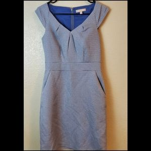 Banana Republic Blue Sleeveless Career Dress